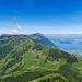 Rigi Scheidegg, Rigi Kulm und Zugersee von der Rigi Hochflue aus