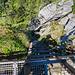Der einfachste Abstieg von der Rigi Hochflue führt direkt vom Gipfel über diese 25m lange Leiter hinab. Dieses Mal haben wir aber die Variante via Zilistock genommen.