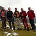 Io, Marcello, Mauro, Francesco ed un suo compagno d'escursione.