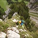 Fantastische alpine Kraxlerei und Kletterei