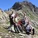 Foto di gruppo sotto il Wichelhorn.
