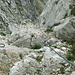 Gut gesicherter Abstieg von der Mayrbergscharte Richtung Lofer