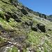 Tornando sui nostri passi,il sentiero di capre a quota 2400 m