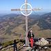 Wolfgang ([u Bart]) auf dem Gipfel der Rohnenspitze