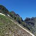 Blick auf die heutige Tour: Mitte links das Rothorn 2526m, rechts das Glogghüs 2534m.