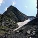 Das Abstiegscouloir Wit Ris. Die Steilheit ist wie so oft kaum zu sehen.