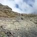Aufstieg zum Glärnischfirn - Das Felsband