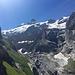 Blick in Richtung Oberer Grindelwaldgletscher mit dem Grossen und Kleinen Schreckhorn