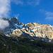 Blick auf das Wetterhorn mit dem Willsgrätli (unterhalb des Wettersattels)
