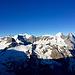 Tolle Aussicht auf dem Wettersattel. Die Berner Gipfelprominenz.