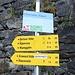 <b>Per la Berlinerhütte il segnavia indica un tempo di percorrenza di 3 h.</b>