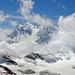 Monte Rosa zwischen den Wolken
