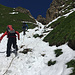 Nachfolgende Berggänger im Aufstieg