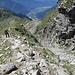 Poco prima della vetta, a lato del sentiero emerge un canalone, utilizzabile come accesso per chi proviene dalla Capanna Brogoldone.