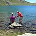 gut kalt der See, zum Schwimmen noch nicht ganz temperiert