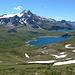 Blick vom Mittagspausenpunkt (2618 m)