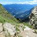 auf der Taufenscharte, das Vinschgau ist erreicht, Meran liegt links um die Ecke