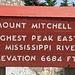 Am Ziel der höchsten Erhebung von North Carolina.