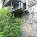Harasov-Krvomlejn, sichtbare Ausmauerung zur Behebung einer alten Nutzungsart unter dem Balkon