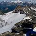 Blick vom Gipfel der Adula auf die Abstiegsroute
