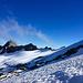 Blick über den Gletscher zum Adulajoch