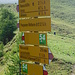 Signpost at Alp Sanaspans
