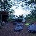 Unser Biwakplatz beim Roggen