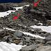 Der Abstieg zum Gauligletscher. Von oben gesehen zunächst links, dann rechts des Bachs.