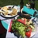 Polenta, Käse und Salat - ein Muss auf der Cardada