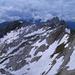 Noch erstaunlich viel Schnee – Blick zum Moor und dem Wildhauser Schafberg