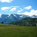 Ausblick vom Tschirggen in die westlichen Ausläufer der Lechtaler Alpen.