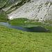 Der Hochalpsee am Fuß des Widdersteins. (Am Fuße des Seekopfs wäre dann doch ein wenig unangemessen)