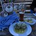 Des Hüttenwirts einmalige Spinatknödel in Buttersoße mit Parmesan und Salat. Ein Gedicht! / Canederli con spinaci nel sugo di burro e con parmigiano...Specialità del padrone del rifugio...eccezionale!!!
