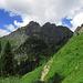 Auf dem schönen Weg vom Brunnenkopf ins Wintertal / Sul bel sentiero dal Brunnenkopf alla Klammspitze