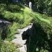 Il tratto gradinato che precede l'arrivo all'Alpe Groppo