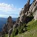 Faszinierende Felsen nördlich der Kleinen Klammspitze.