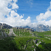 Blick zurück zum Fisetenpass. Eindrückliche Wolkenspiele begleiten uns.