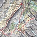 Routenverlauf (zwei Tage)<br /><br />Quelle: map.geo.admin.ch