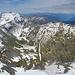 Links die Dents du Midi und Tour Salliere, das weite Tal im rechten Bildteil ist das Wallis
