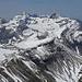 Von links: Pic de Tenneverge (2985m), Mont Ruan (3054m), dahinter die Dents du Midi, die Pyramide rechts ist die Tour Salliere (3219m)