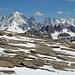 Aiguille Verte (4122m), Les Drus (3755m), Grandes Jorasses (4208m)