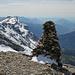 Auf dem Cheval Blanc (2831m), links Le Grenier de Commune (2775m)