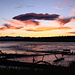 Sonnenuntergang beim Madison River