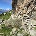 Muretto nei pressi dell'acquitrino (circa 2350 m)