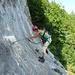 """Die """"Schlüsselstelle"""" des Foletti - wirkt in Natura steiler, als auf dem Bild"""