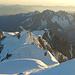 Blick auf den Drei-Gipfel-Anstieg