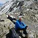 Mittagspause auf dem Sertigpass im Windschatten auf den warmen Felsen
