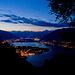 Ascona bei erstem Dämmerlicht