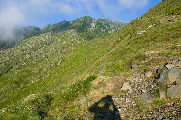Der weitere Anstieg mit der Bocchetta di Valle