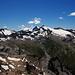 Irgendwo müsste in dieser Richtung das Rheinwaldhorn stehen, vielleicht einer der beiden Gipfel in der Bildmitte.